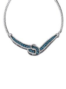 Collier mit blauen Diamanten Diemer Trend Blau