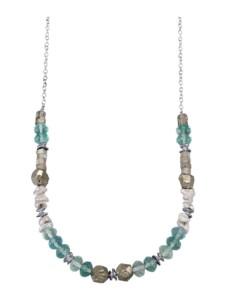 Collier Roman Glass Silberfarben