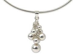 Collier 'Silver Pearls', Collier, Schmuck
