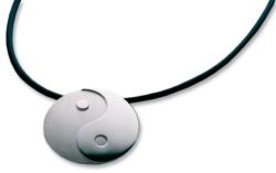 Collier 'Yin und Yang', Version Silber, Collier, Schmuck