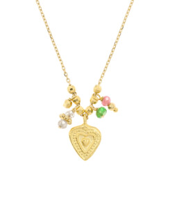 COLORFUL HEART|Halskette Gold