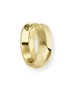 Creole Facet Edge aus vergoldetem 925 Sterling Silber