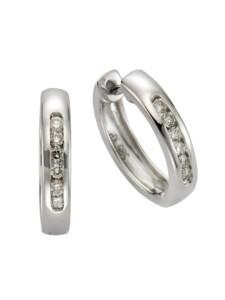 Creolen 585/- Gold Brillant weiß Brillant 1,6cm Glänzend 0,25ct. Diamonds by Ellen K. weiß