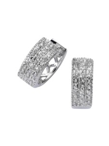 Creolen 585/- Gold Diamant weiß Diamant 1,3cm Glänzend 0,25ct. Diamonds by Ellen K. weiß