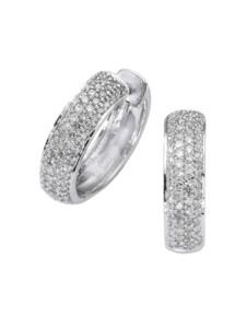 Creolen 585/- Gold Diamant weiß Diamant 1,7cm Glänzend 0,50ct. Diamonds by Ellen K. weiß