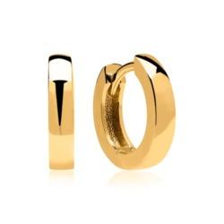 Creolen 8K Gold mit Klappverschlüssen