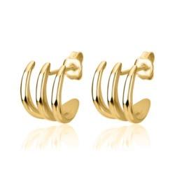 Creolen für Damen aus vergoldetem Sterlingsilber