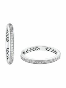 Creolen für Damen, Sterling Silber 925, Zirkonia JOOP! Silber