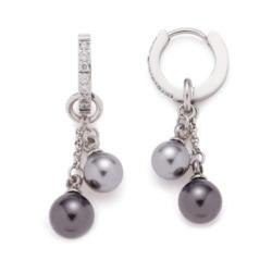 Creolen Micca für Damen aus Edelstahl mit Perlen