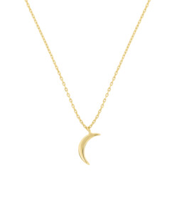 CRESCENT MOON|Halskette Gold
