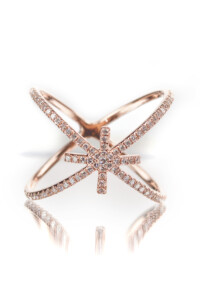 CROSS Diamant Doppelring Roségold