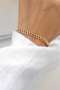CURB CHAIN Armband rosé vergoldet