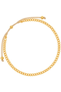 CURB CHAIN BRACELET YELLOW GOLD PLATED