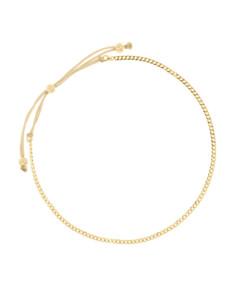 CURB CHAIN|Armband Gold