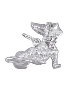 Dackel-Anhänger Diemer Trend Silberfarben