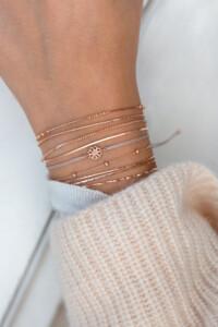 DAINTY BLOSSOM Armband rosé vergoldet
