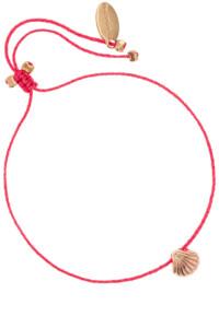 DAINTY SHELL Armband Pink