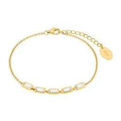 Damen Armband aus vergoldetem 925er Silber, Zirkonia