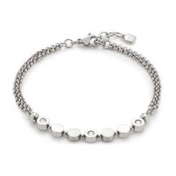 Damen Armband Dorelly aus Edelstahl mit Kristallen