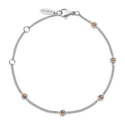 Damen Armband Rainbow aus Edelstahl mit Glassteinen