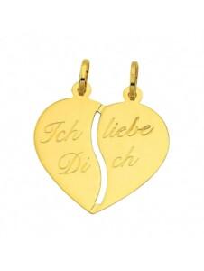 Damen Goldschmuck 333 Gold Anhänger Partneranhänger 1001 Diamonds gold