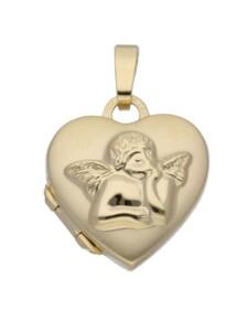 Damen Goldschmuck 333 Gold Medaillon Anhänger 1001 Diamonds gold