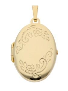 Damen Goldschmuck 585 Gold Medaillon Anhänger 1001 Diamonds gold