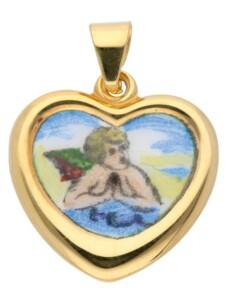 1001 Diamonds Damen Goldschmuck 585 Gold Anhänger Amor 1001 Diamonds gold
