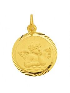 Damen Goldschmuck 585 Gold Anhänger Amor Ø 12 mm 1001 Diamonds gold