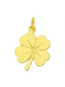Damen Goldschmuck 585 Gold Anhänger Kleeblatt 1001 Diamonds gold
