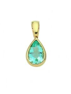 Damen Goldschmuck 585 Gold Anhänger mit Aquamarin 1001 Diamonds blau
