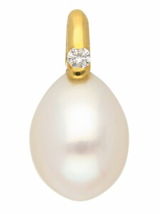 1001 Diamonds Damen Goldschmuck 585 Gold Anhänger mit Süßwasser Zuchtperle 1001 Diamonds gold