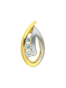 Damen Goldschmuck 585 Gold Anhänger mit Zirkonia 1001 Diamonds gold