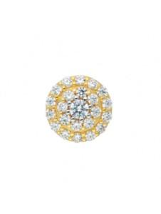 Damen Goldschmuck 585 Gold Anhänger mit Zirkonia Ø 9,5 mm 1001 Diamonds gold