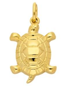 1001 Diamonds Damen Goldschmuck 585 Gold Anhänger Schildkröte 1001 Diamonds gold