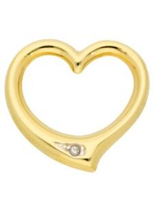 1001 Diamonds Damen Goldschmuck 585 Gold Anhänger Swingheart mit Diamant 1001 Diamonds gold