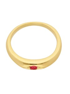 1001 Diamonds Damen Goldschmuck 585 Gold Anhänger Taufring mit Rubin Ø 10,1 mm 1001 Diamonds rot