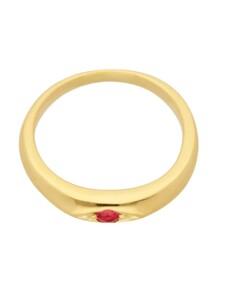 1001 Diamonds Damen Goldschmuck 585 Gold Anhänger Taufring mit Rubin Ø 10,1 mm 1001 Diamonds rot