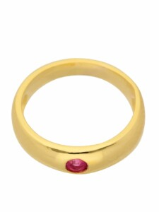 1001 Diamonds Damen Goldschmuck 585 Gold Anhänger Taufring mit Rubin Ø 11,2 mm 1001 Diamonds rot