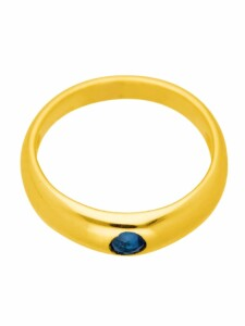 1001 Diamonds Damen Goldschmuck 585 Gold Anhänger Taufring mit Safir Ø 11,2 mm 1001 Diamonds blau