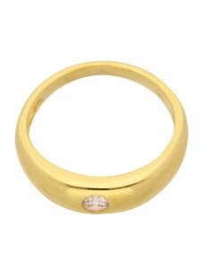 1001 Diamonds Damen Goldschmuck 585 Gold Anhänger Taufring mit Zirkonia Ø 11,2 mm 1001 Diamonds gold