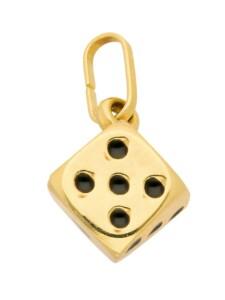 Damen Goldschmuck 585 Gold Anhänger Würfel 1001 Diamonds gold