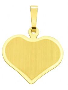 Damen Goldschmuck 585 Gold Gravurplatte Anhänger 1001 Diamonds gold
