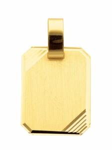 1001 Diamonds Damen Goldschmuck 585 Gold Gravurplatte Anhänger 1001 Diamonds gold