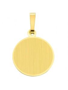 Damen Goldschmuck 585 Gold Gravurplatte Anhänger Ø 13,6 mm 1001 Diamonds gold