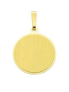 Damen Goldschmuck 585 Gold Gravurplatte Anhänger Ø 15,5 mm 1001 Diamonds gold