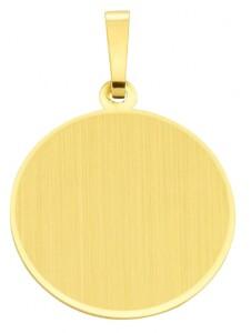 Damen Goldschmuck 585 Gold Gravurplatte Anhänger Ø 19,1 mm 1001 Diamonds gold
