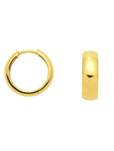 Damen Goldschmuck 585 Gold Ohrringe / Creolen Ø 14 mm 1001 Diamonds gold