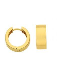 Damen Goldschmuck 585 Gold Ohrringe / Creolen Ø 15 mm 1001 Diamonds gold