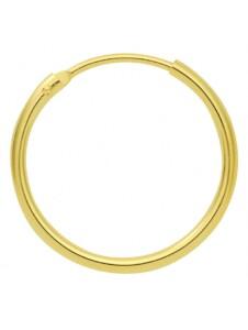 Damen Goldschmuck 585 Gold Ohrringe / Creolen Ø 20 mm 1001 Diamonds gold